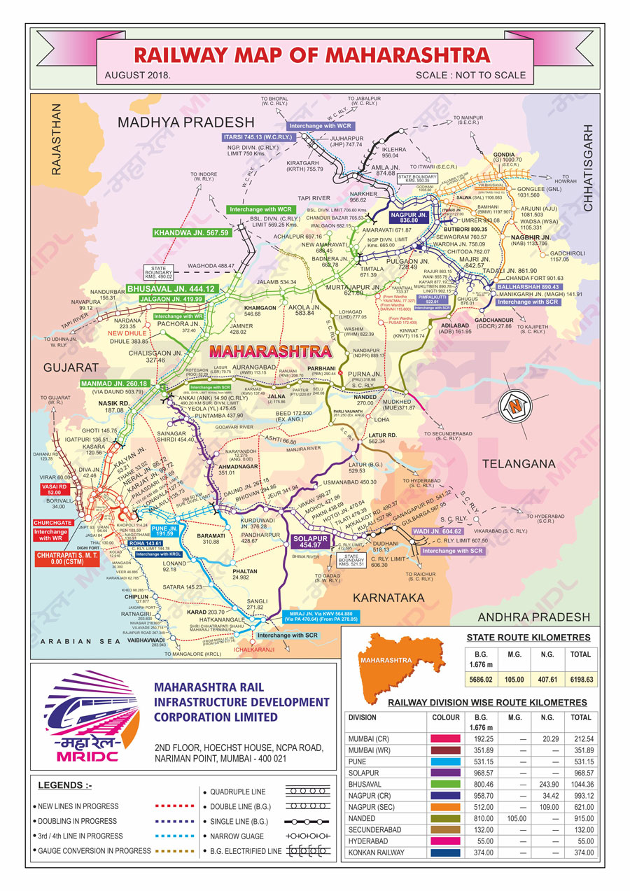 rail map of maharashtra Maharail Maharashtra Rail Infrastructure Development Corporation rail map of maharashtra